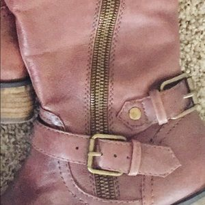 Women's Steve Madden Leather Brown Boots Size 6M